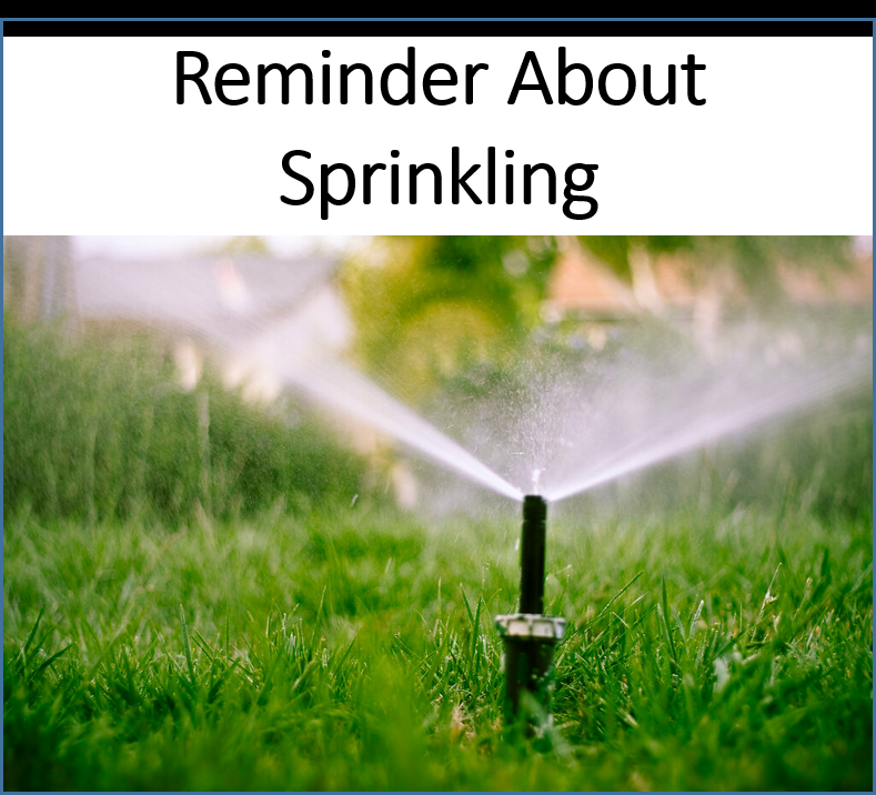 sprinkling reminder