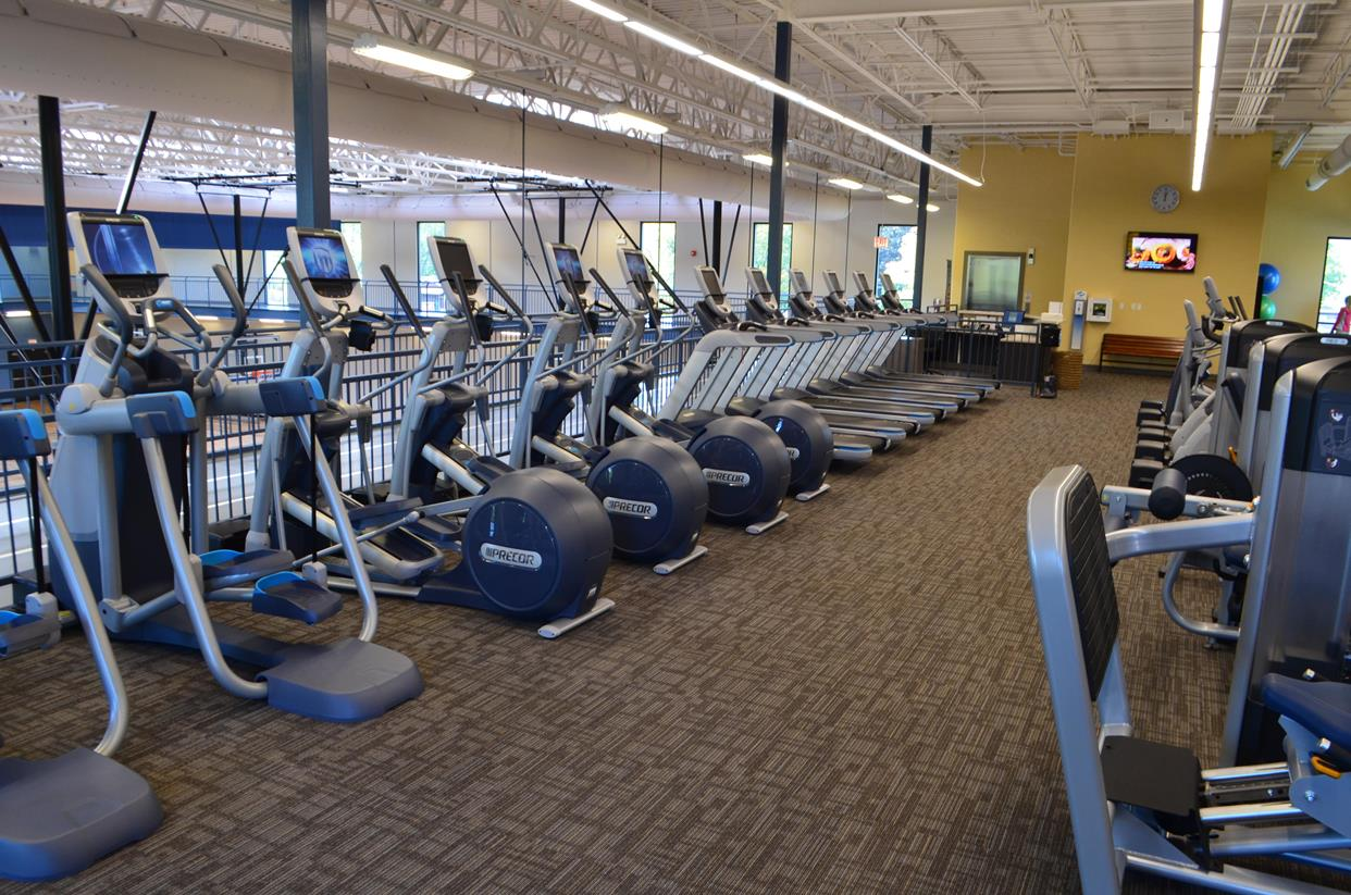 Row of Exercise Machines