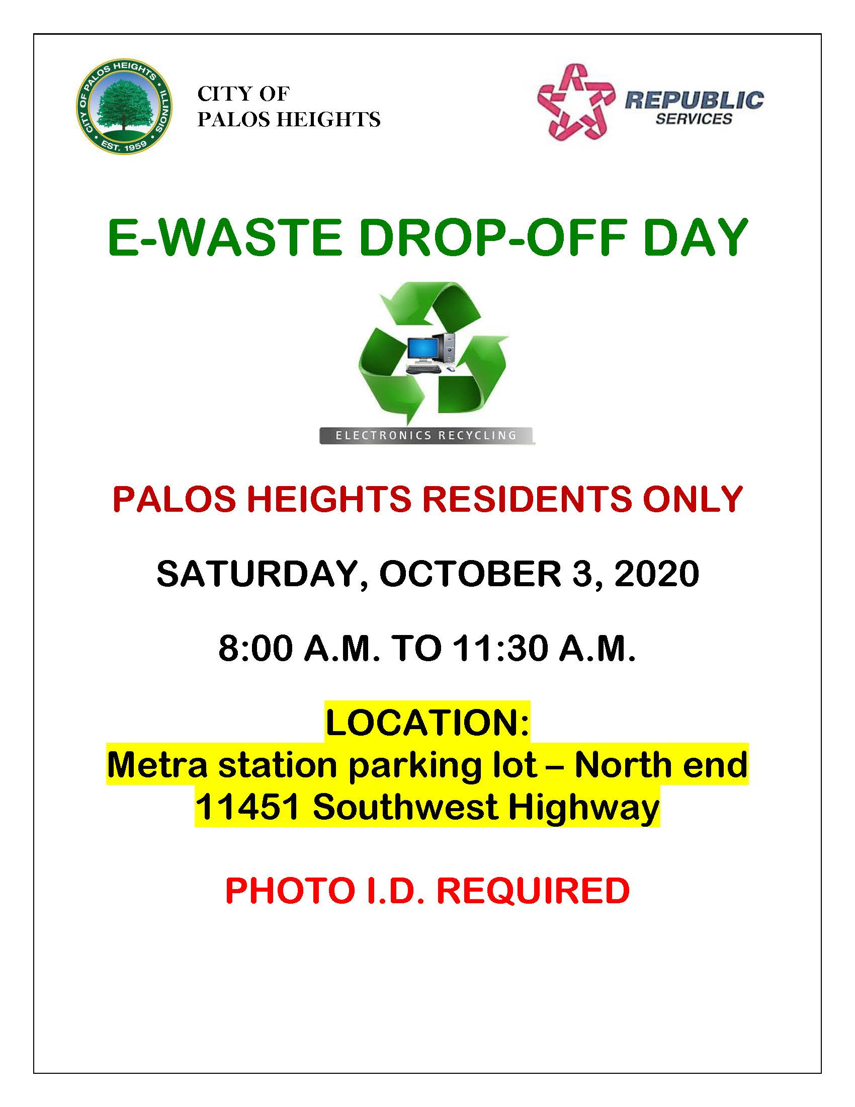 E-Waste Dropoff Day 10-3-20